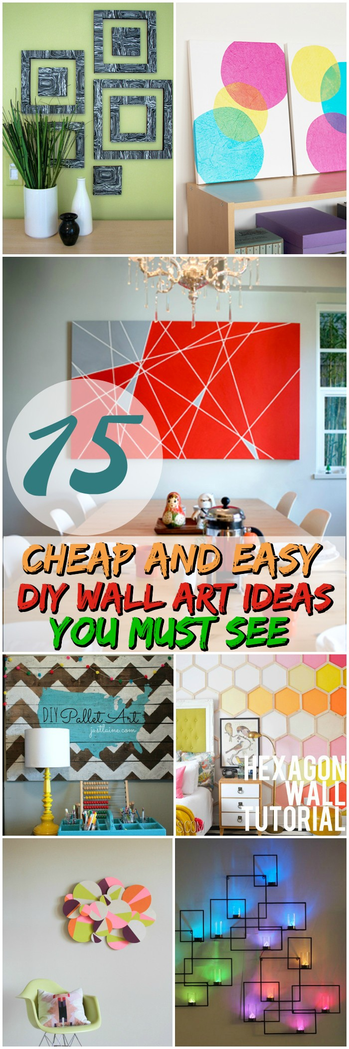 15 cheap and easy DIY wall art ideas you must see
