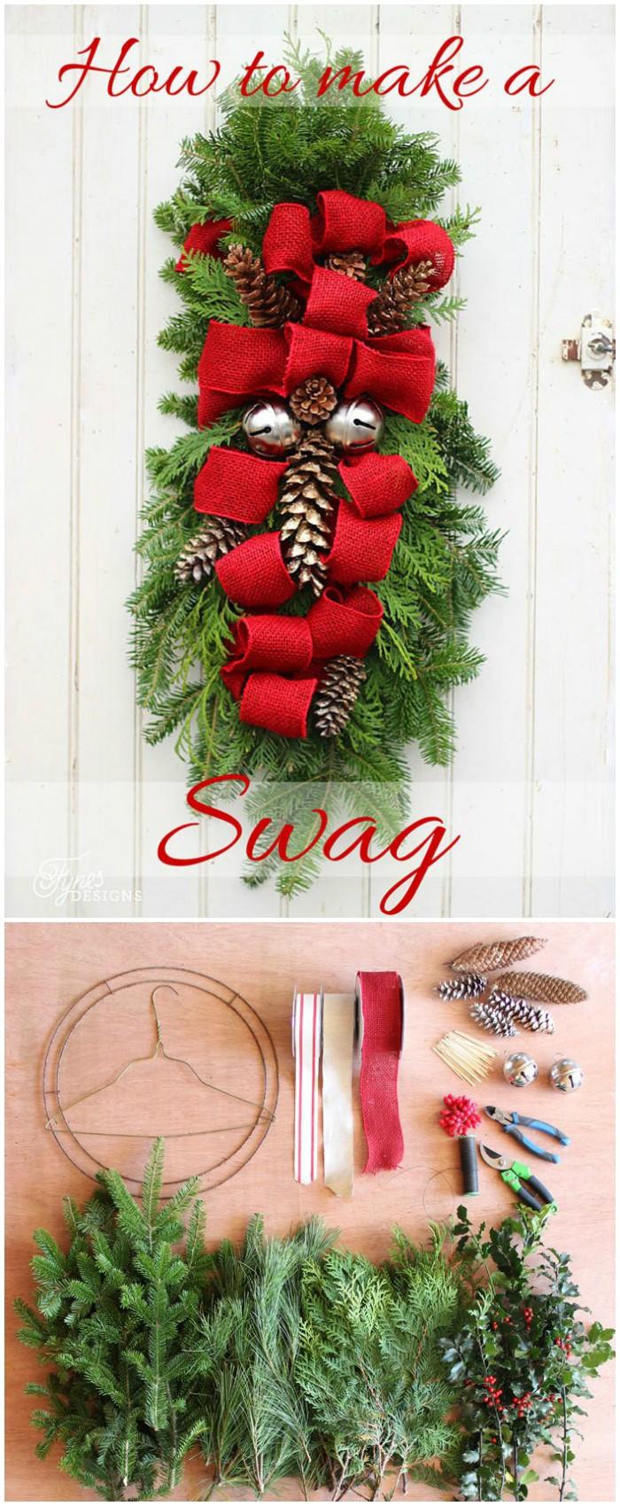 Christmas swag door decoration
