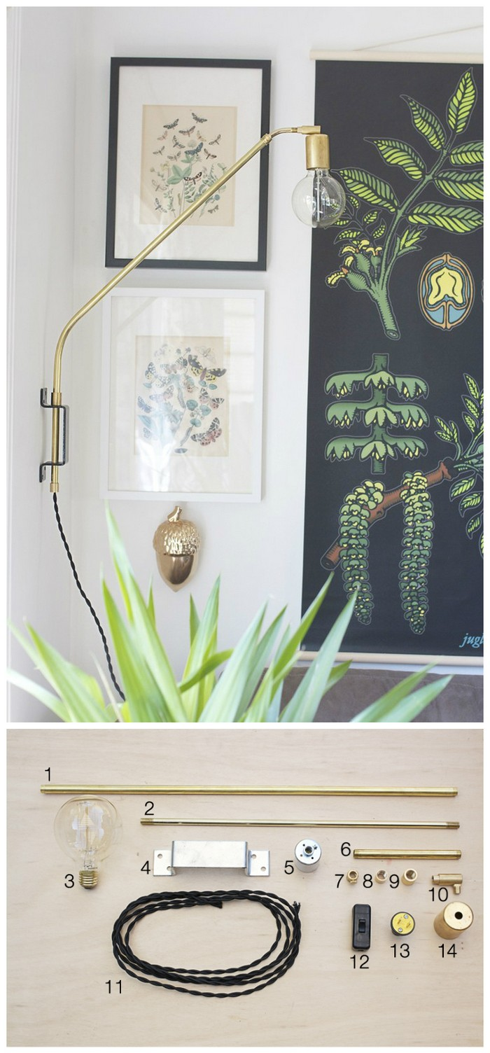 DIY Brass Swing Lamp Tutorial