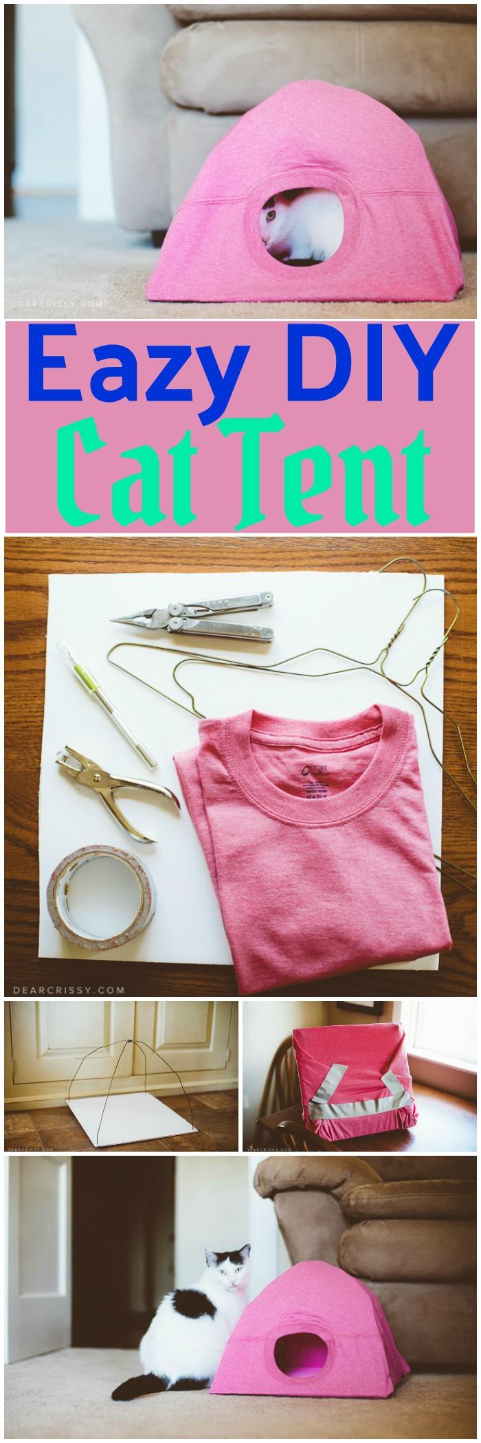 DIY Cat Tent DIY Dollar Store crafts & Decorating ideas