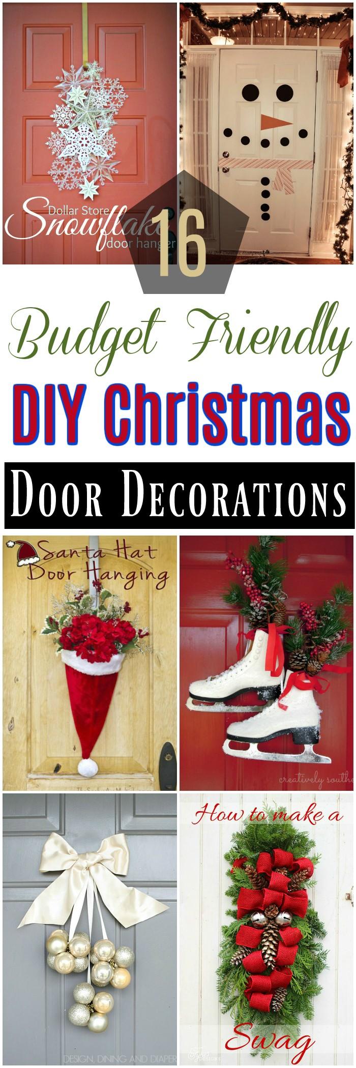 16 Budget Friendly DIY Christmas Door Decorations