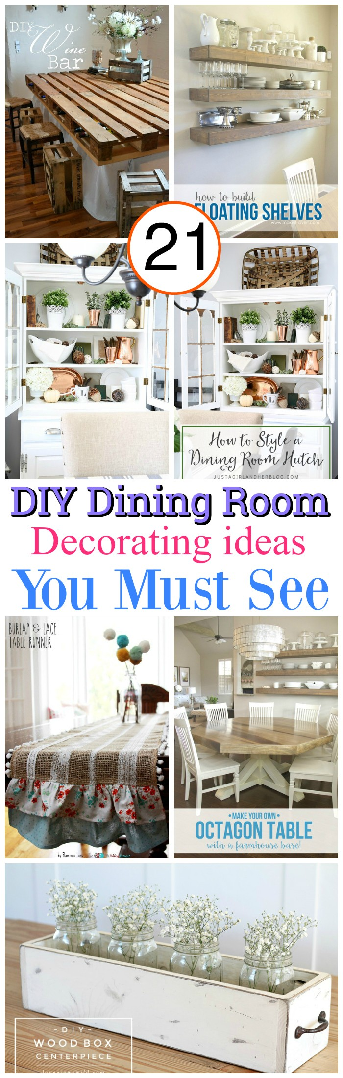 DIY Dining Room Decor 21 DIY Dining Room Decorating Ideas You Must See