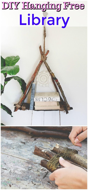DIY Hanging Free Library