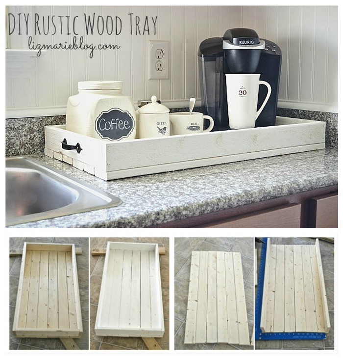 DIY Rustic Wood Tray