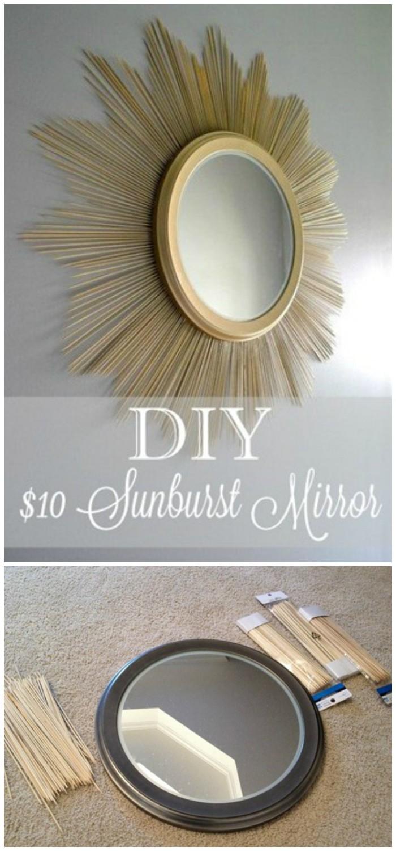 Diy dollar store crafts decorating ideas diy home decor for Dollar store mirror craft