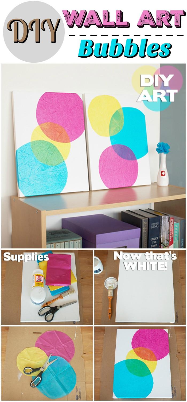 DIY Wall Art Bubbles