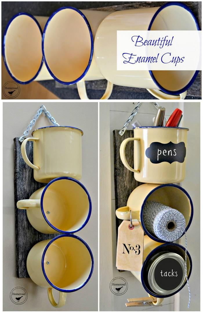 DIY Enamel Mug Organizer