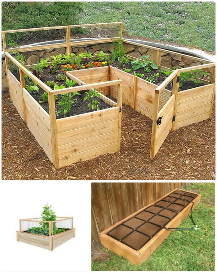 Gated Cedar Raised Garden Bed Kit 21 Lovely DIY Garden Decor Ideas You Will Love