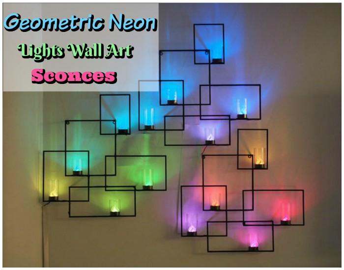 Geometric Neon Lights Wall Art Sconces