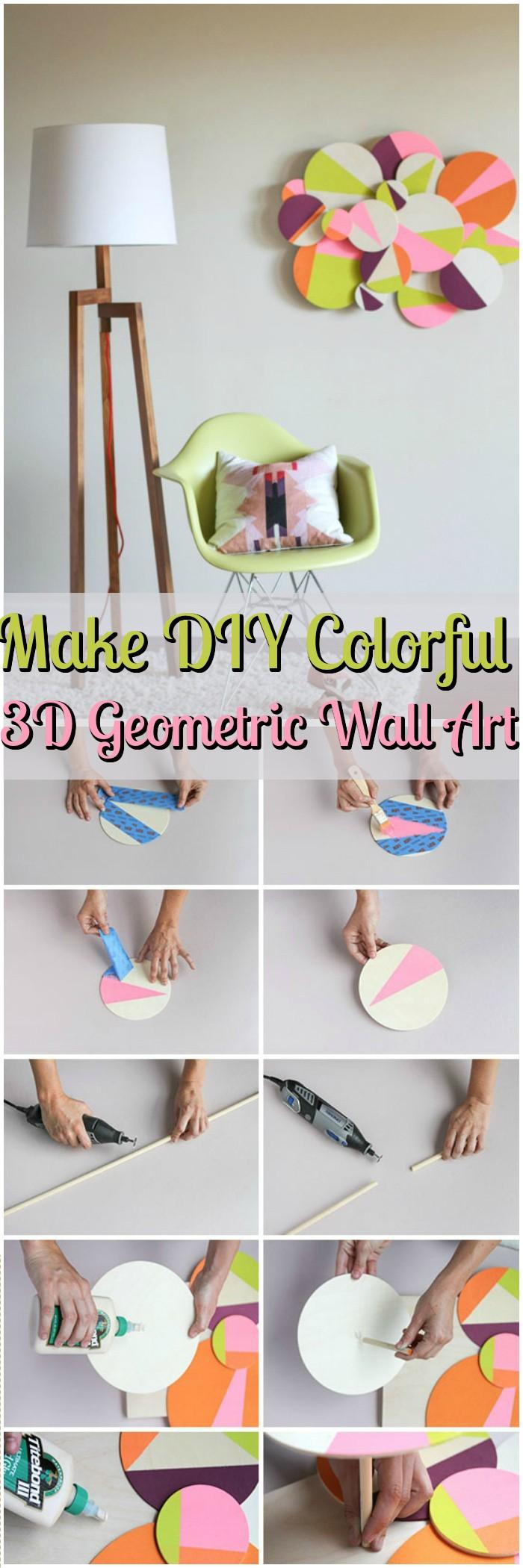 Make DIY Colorful 3D Geometric Wall Art