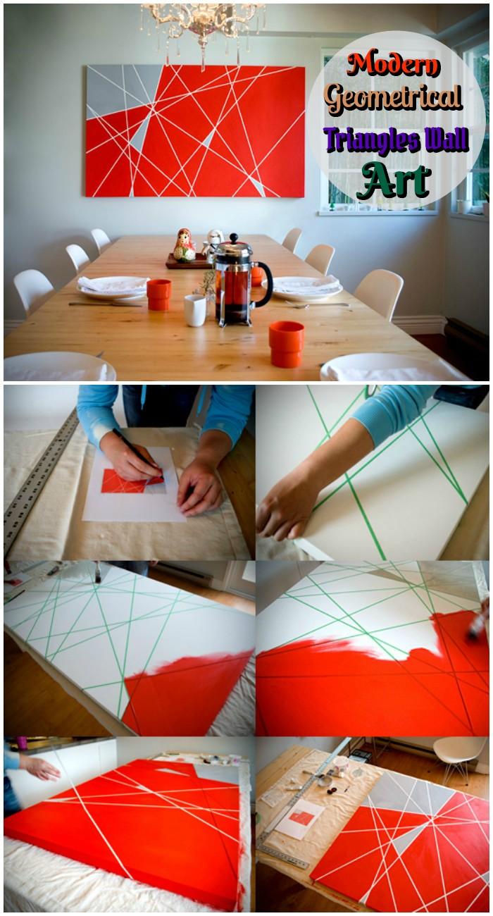 Modern Geometrical Triangles Wall Art