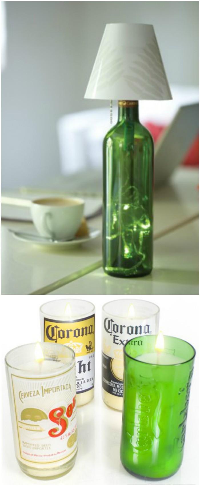 Creative DIY ways to reuse plastic bottles Recycled Bottle Lamp Kit: