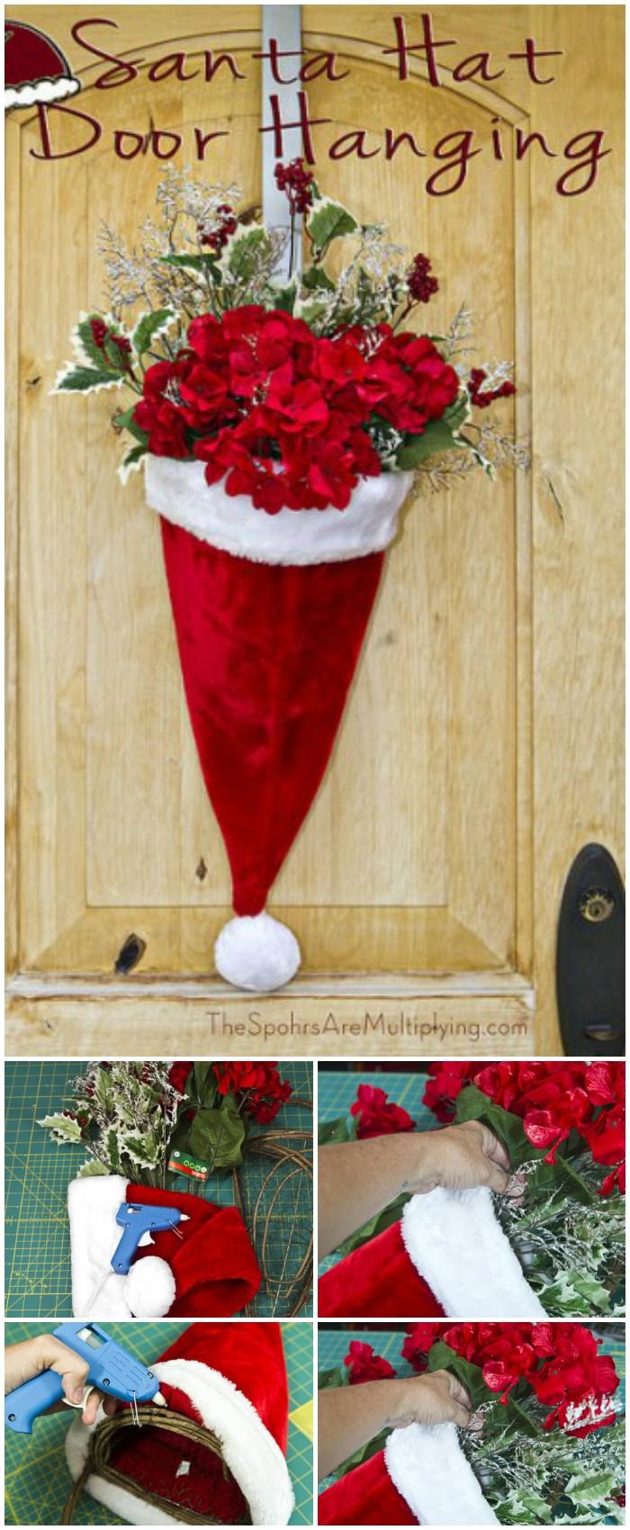 Santa Hat Door Hanging