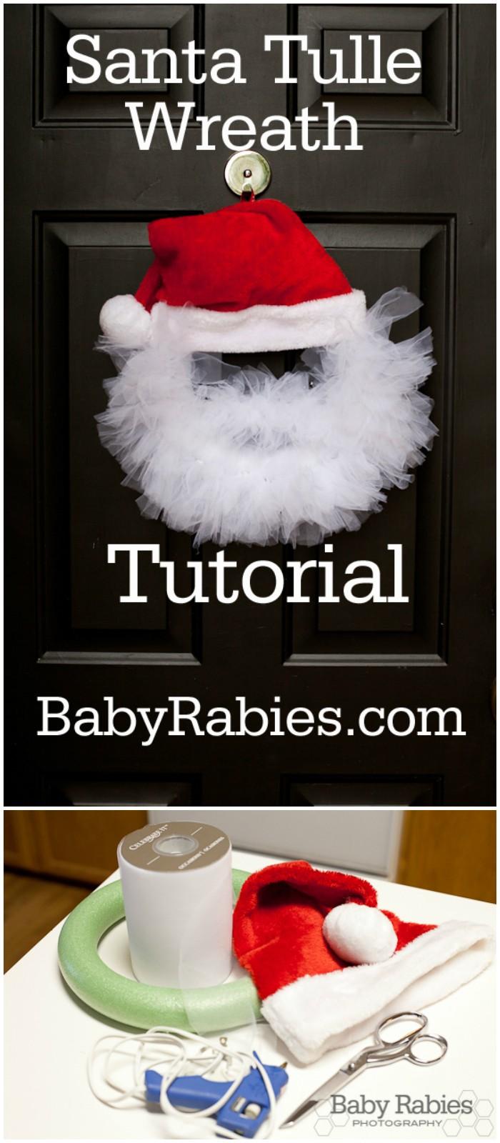 Santa Tulle Wreath Tutorial Baby Rabies | Autos Post - photo#2