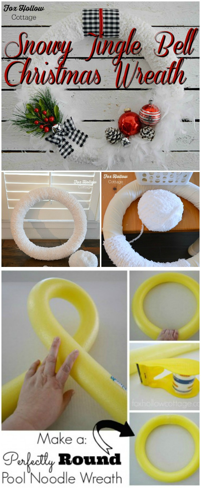 How To Make a Snowy Jingle Bell Christmas Wreath