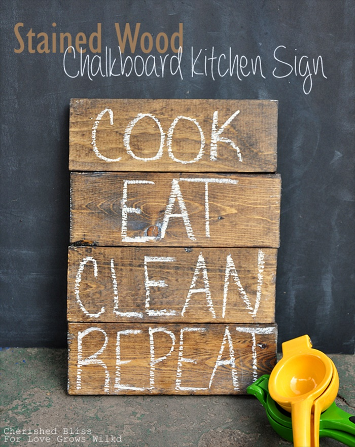 Chalkboard Kitchen Sign