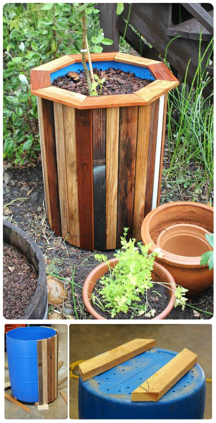 Stylish and Low Cost 55 Gallon Drum Planters 21 Lovely DIY Garden Decor Ideas You Will Love