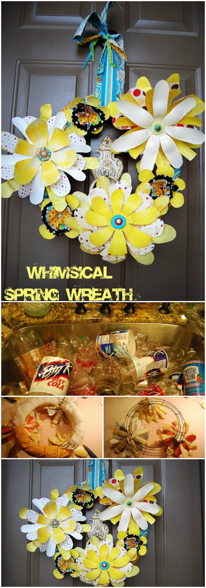 Creative DIY ways to reuse plastic bottles Whimsical Spring wreaths