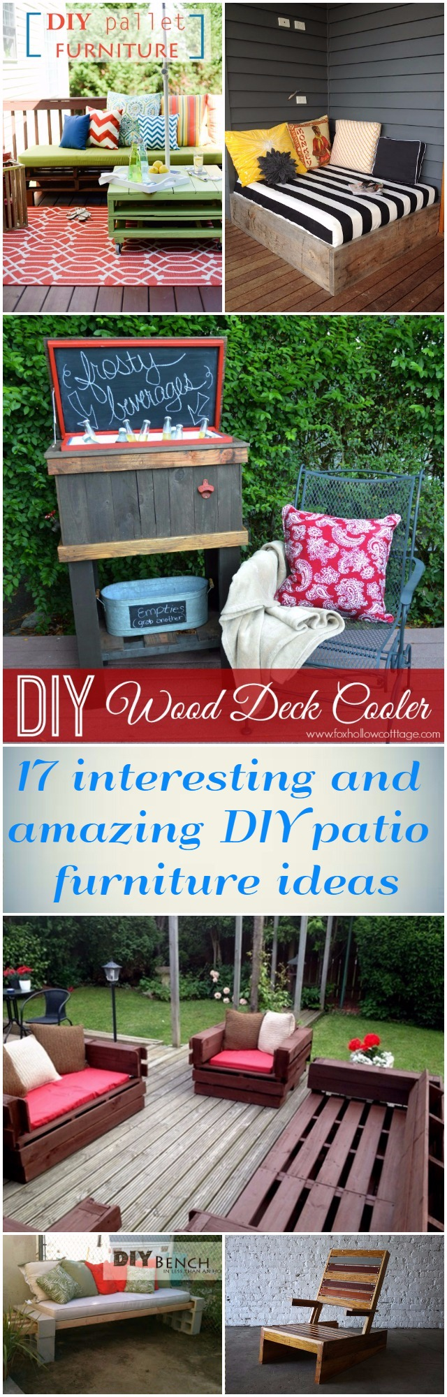 17 interesting and amazing DIY patio furniture ideas 1 17 Interesting And Amazing DIY Patio Furniture Ideas