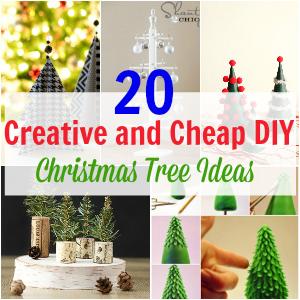 20 Creative and Cheap DIY Christmas Tree Ideas