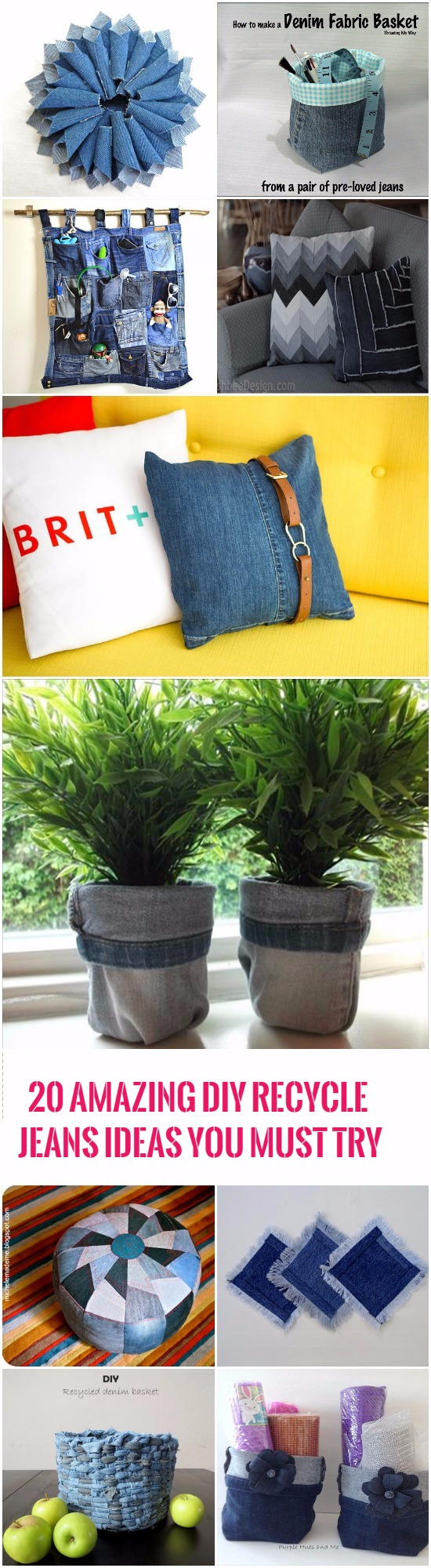 21 Amazing DIY Recycle Jean Ideas You Must Try