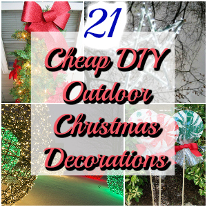 21 cheap diy outdoor christmas decorations diy home decor - Cheap Outdoor Christmas Decorations