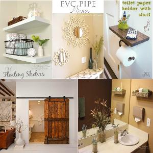 25 interesting DIY bathroom ideas on your budget