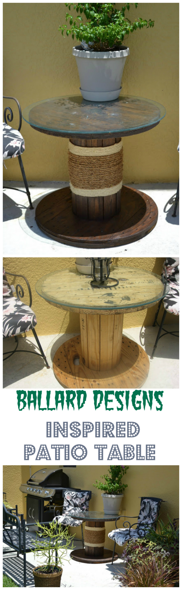 15 cheap and stunning DIY outdoor furniture ideas Ballard Designs Inspired Patio Table