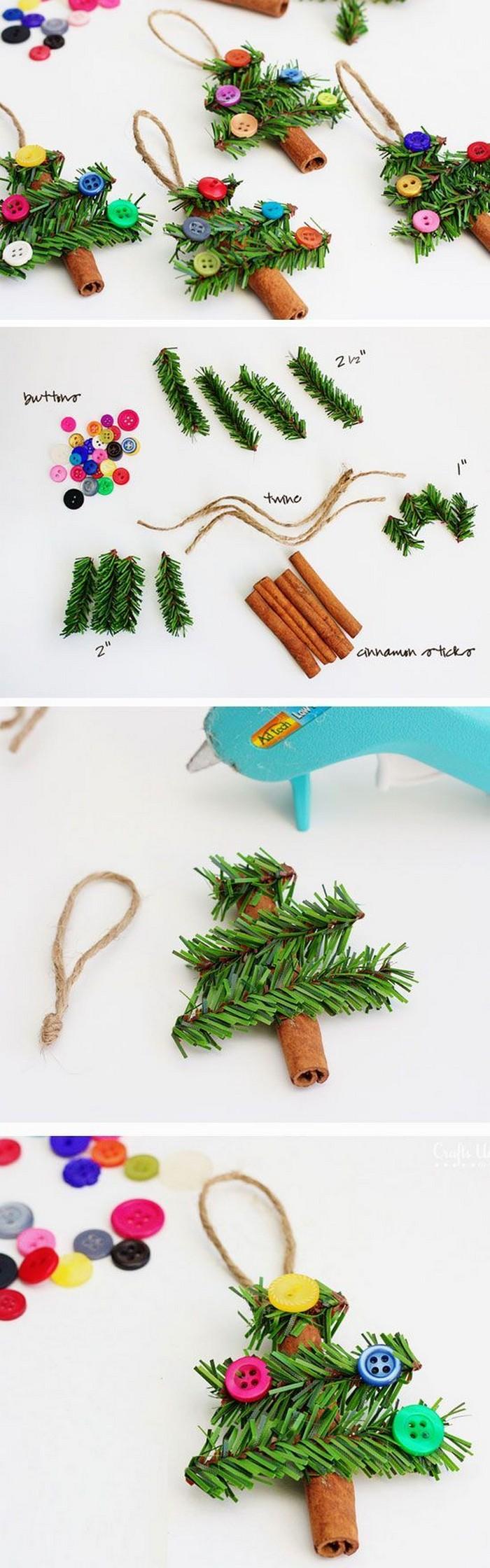 Cinnamon Stick Tree Ornaments 25 Interesting Ideas to Make Easy Christmas Crafts