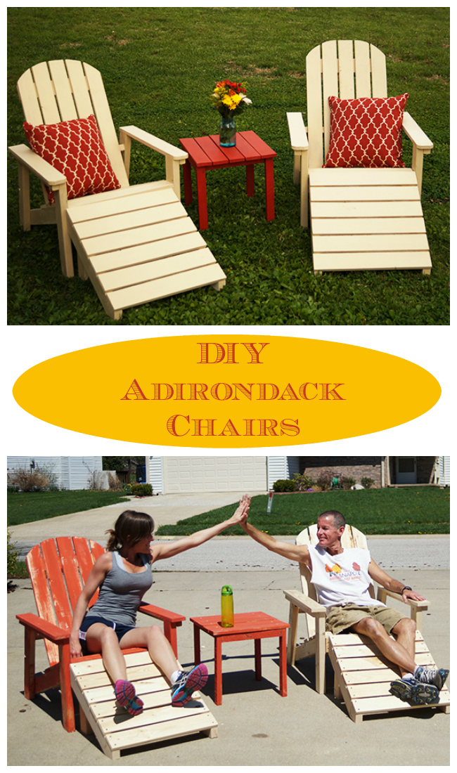 15 cheap and stunning DIY outdoor furniture ideas DIY Adirondack Chairs