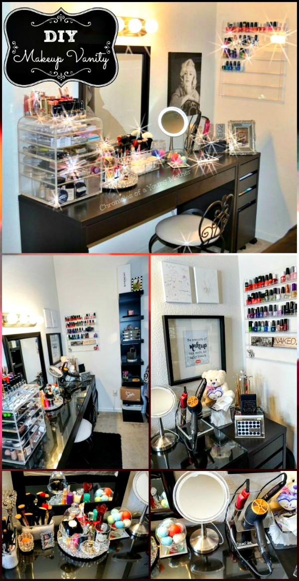 DIY Beautiful Makeup Vanity 15 Amazing DIY Vanity Table Ideas You Must Try