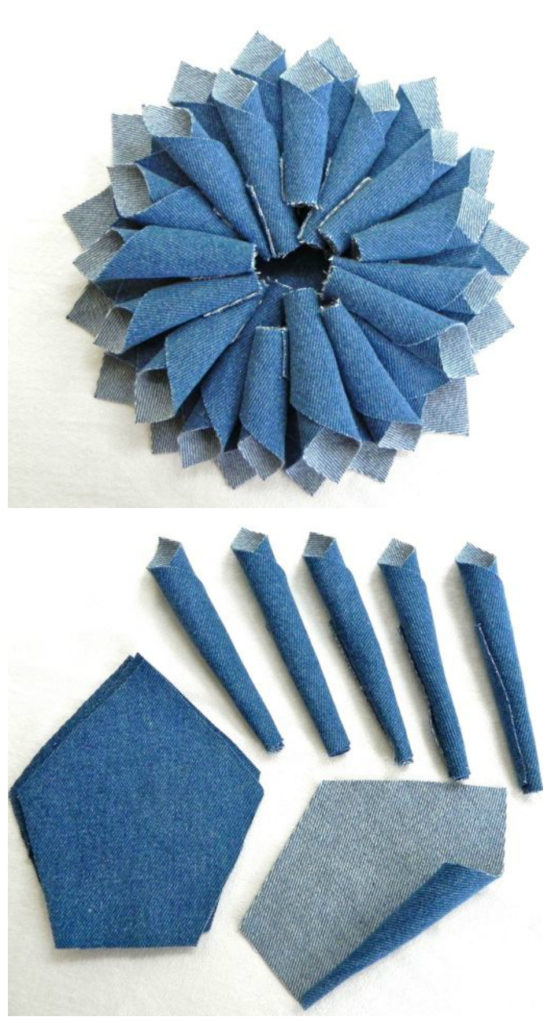 21 Amazing DIY Recycle Jean Ideas You Must Try DIY Denim Fabric Flowers