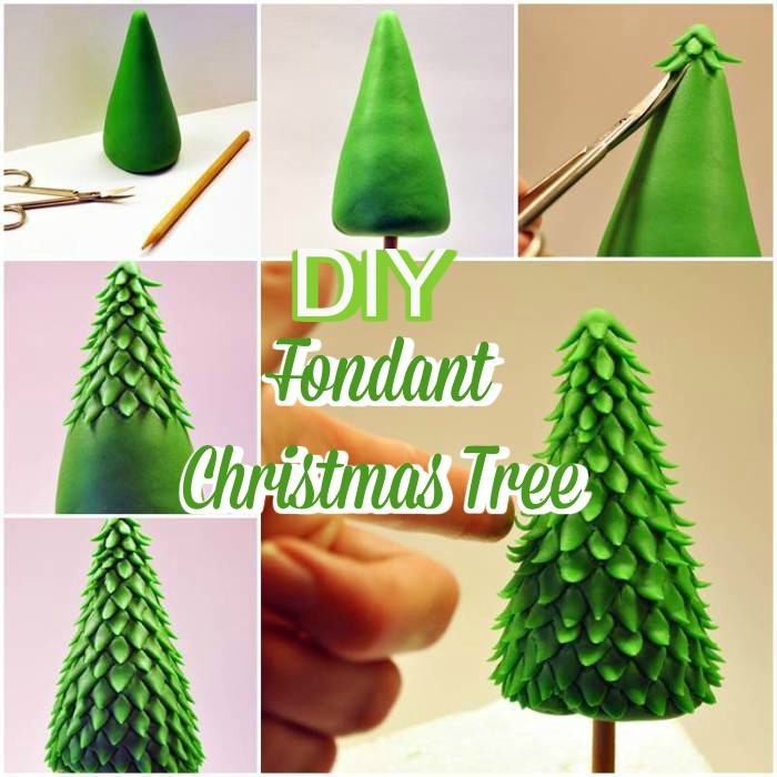 DIY Fondant Christmas Tree