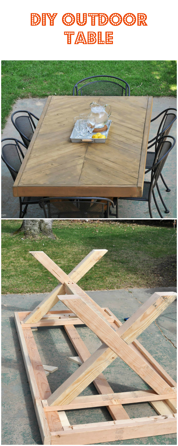 15 cheap and stunning DIY outdoor furniture ideas DIY Outdoor Table