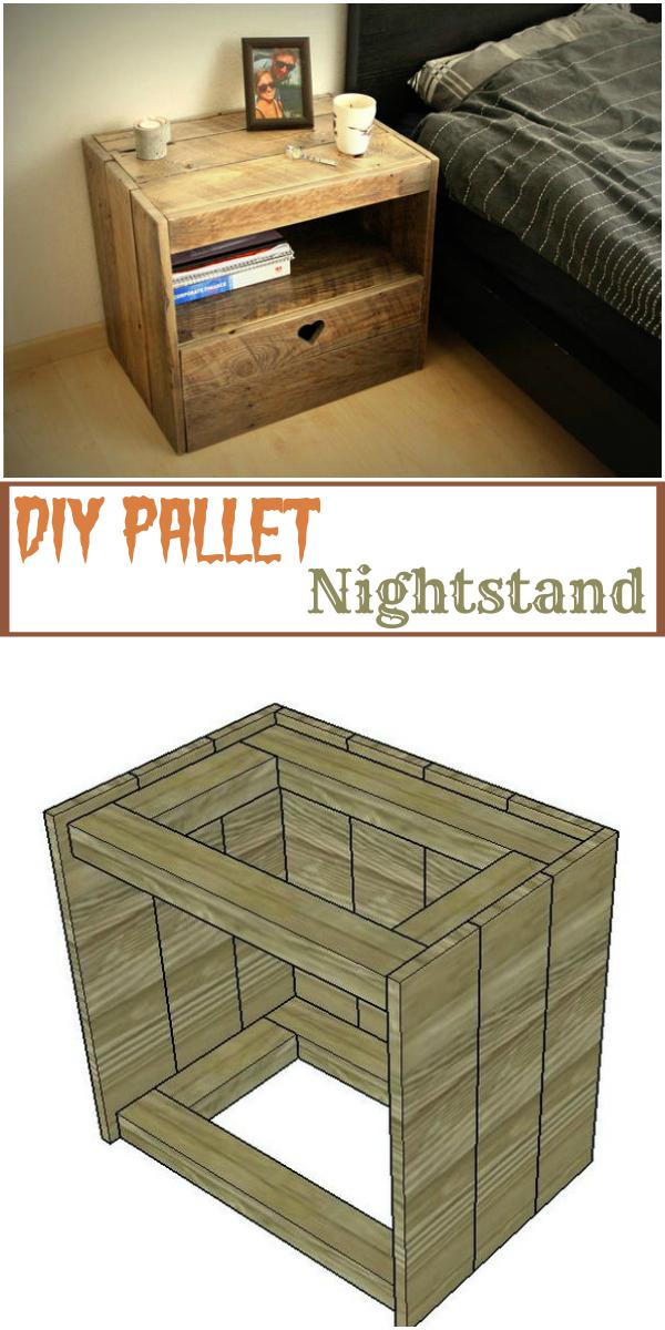 wooden pallet furniture ideas. DIY Pallet Nightstand 17 Furniture Ideas To Make Home Creative Wooden Pallet Furniture Ideas