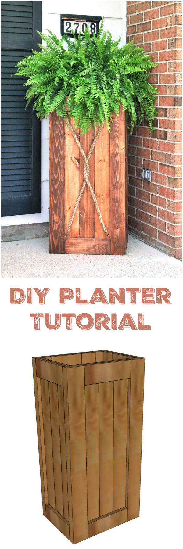 15 cheap and stunning DIY outdoor furniture ideas DIY Planter Tutorial