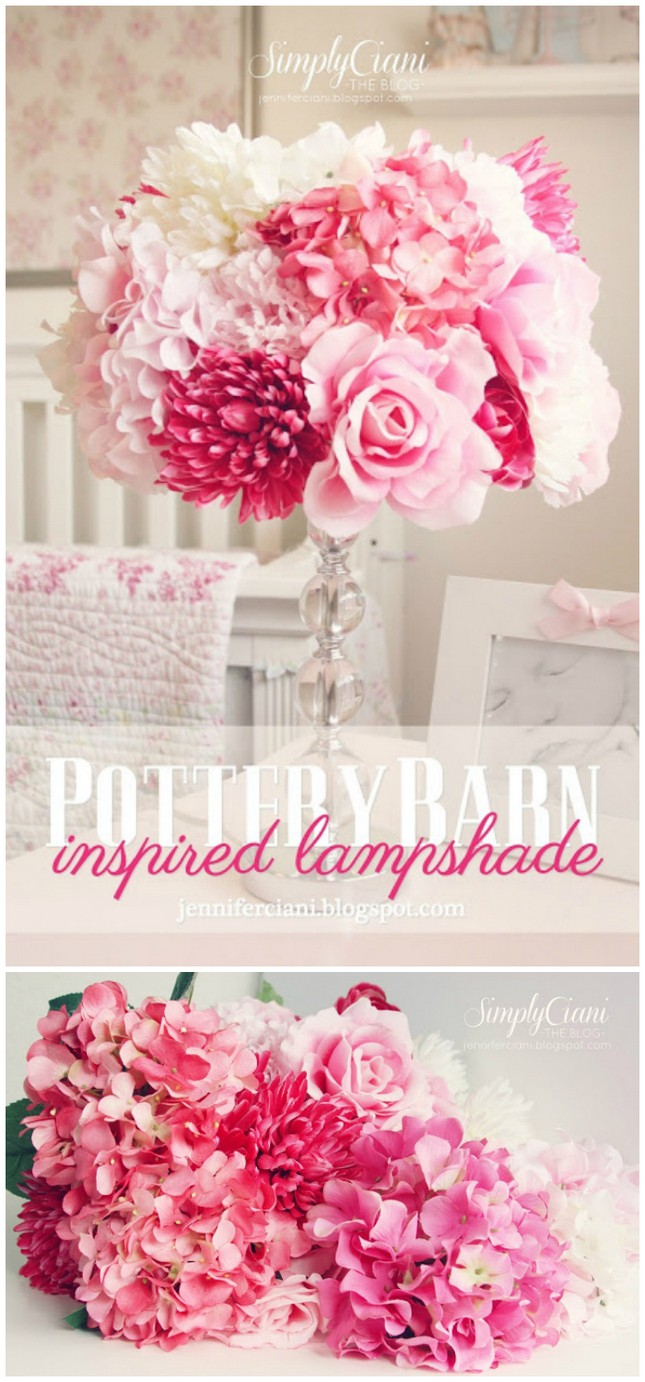 DIY Pottery Barn Lamp Shade - DIY Bedroom Décor Ideas