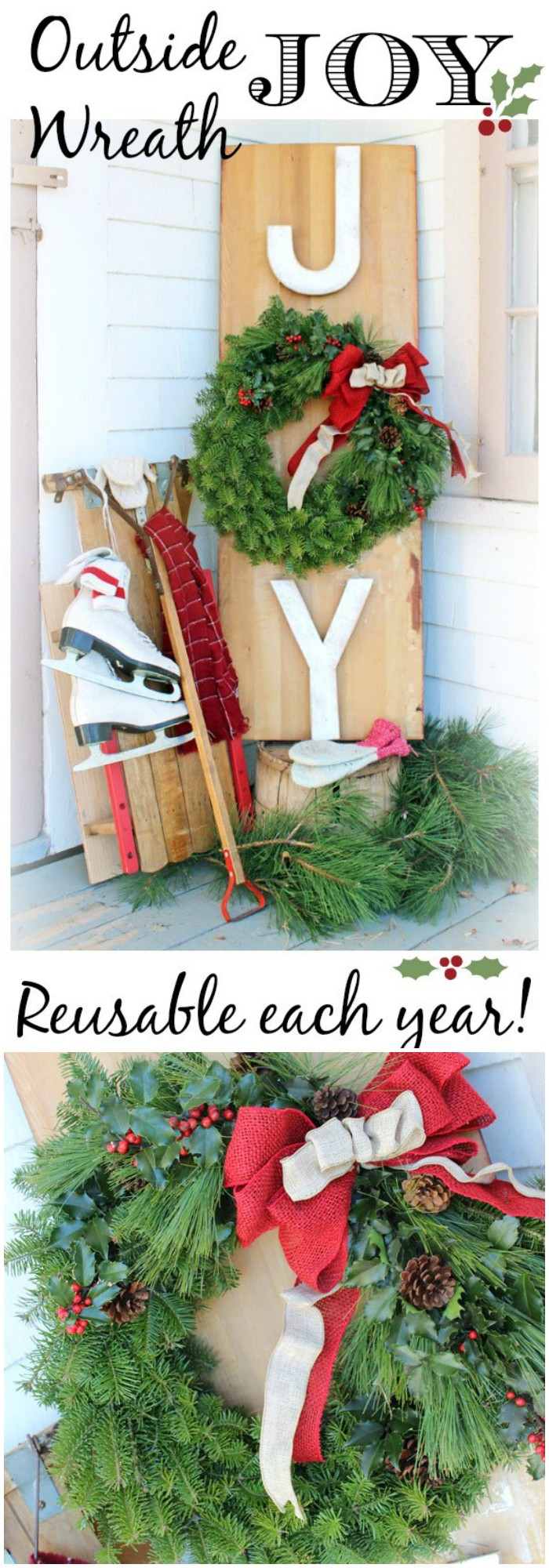 21 cheap diy outdoor christmas decorations diy home decor for Outdoor home accessories