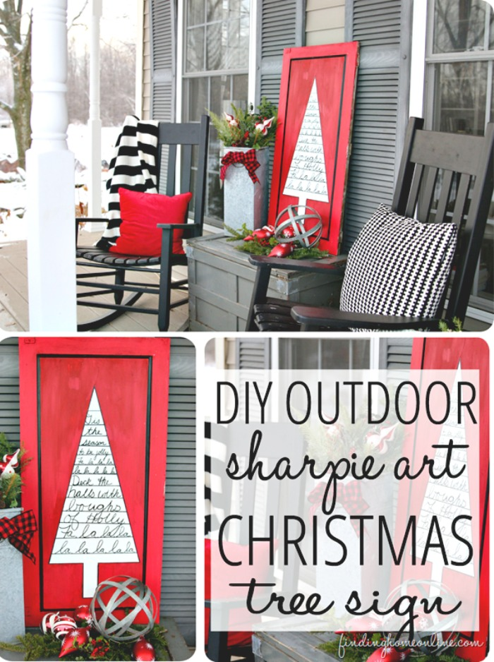 outdoor christmas sign 21 cheap diy outdoor christmas decorations
