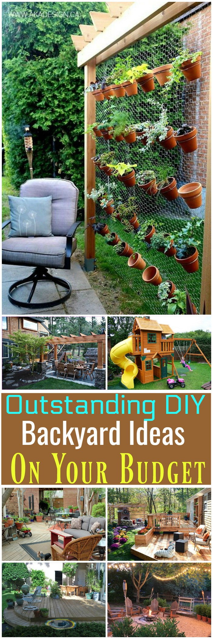 12 Great Ideas For A Modest Backyard: 12 Outstanding DIY Backyard Ideas On Your Budget • DIY