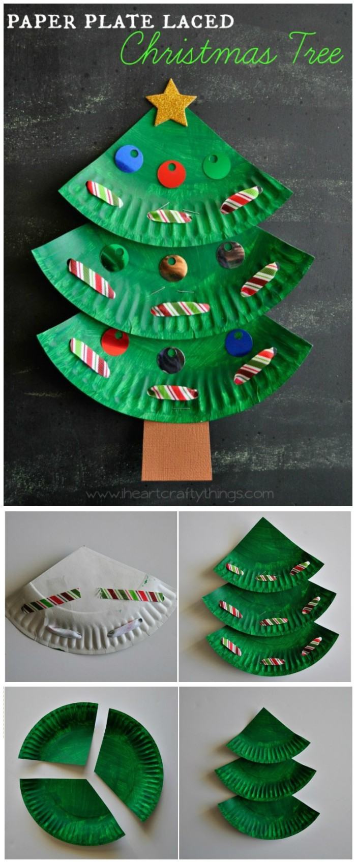 Paper Plate Laced Christmas Tree 25 Interesting Ideas to Make Easy Christmas Crafts