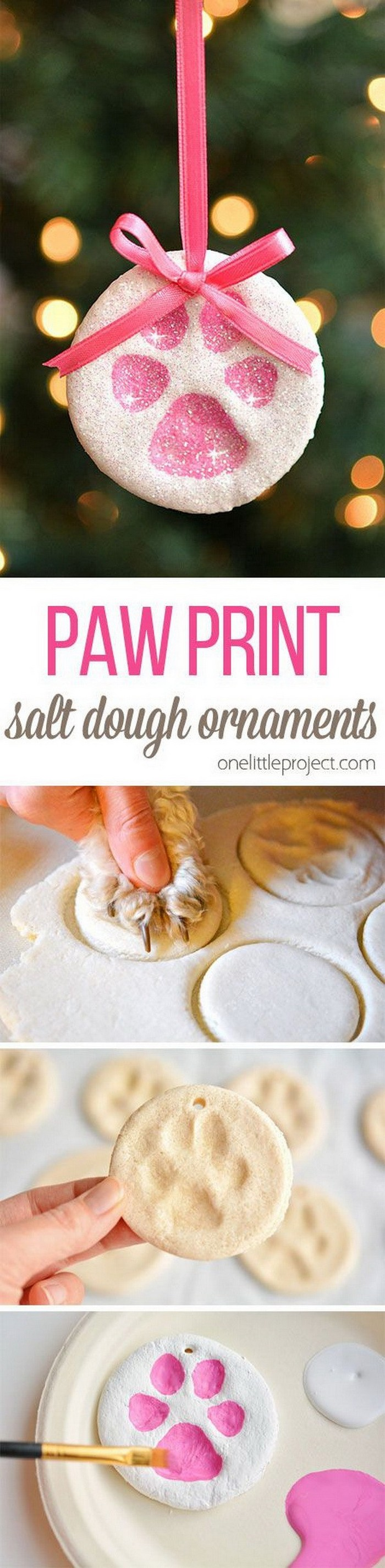 Print Salt Dough Ornaments - DIY Christmas crafts