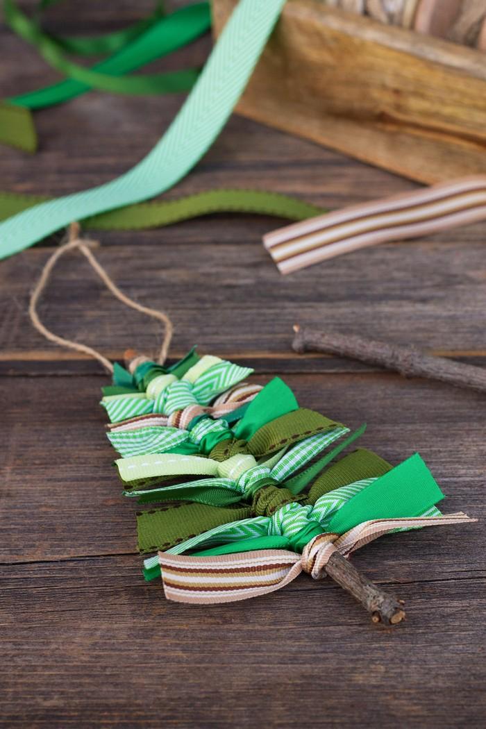 Scrap Ribbon Tree Ornaments 25 Interesting Ideas to Make Easy Christmas Crafts