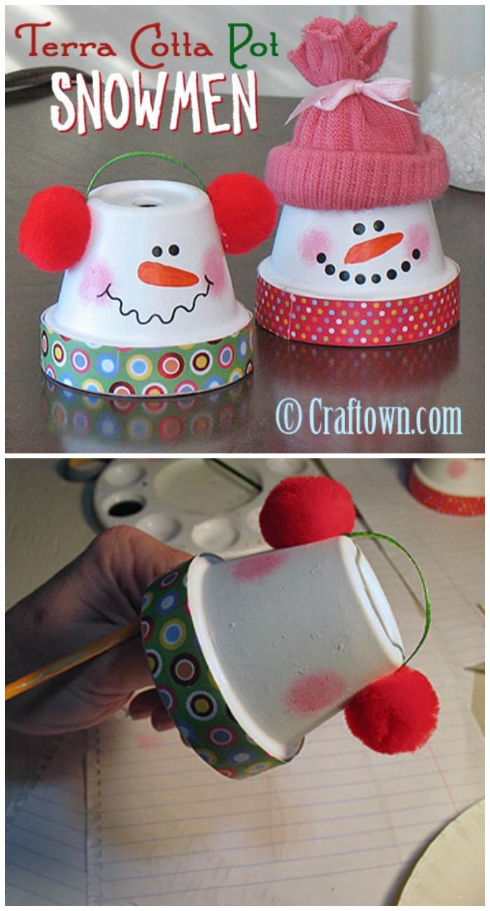 Terra Cotta Pot Snowmen 25 Interesting Ideas to Make Easy Christmas Crafts