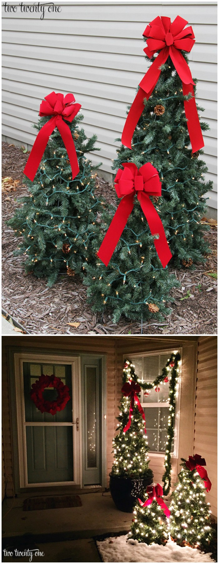 21 Cheap DIY Outdoor Christmas Decorations • DIY Home Decor