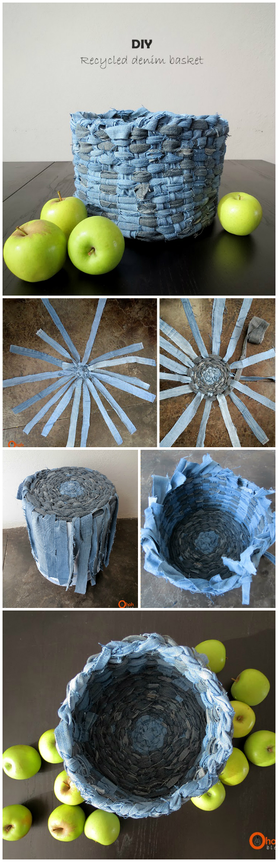 21 Amazing DIY Recycle Jean Ideas You Must Try Weave a really awesome basket