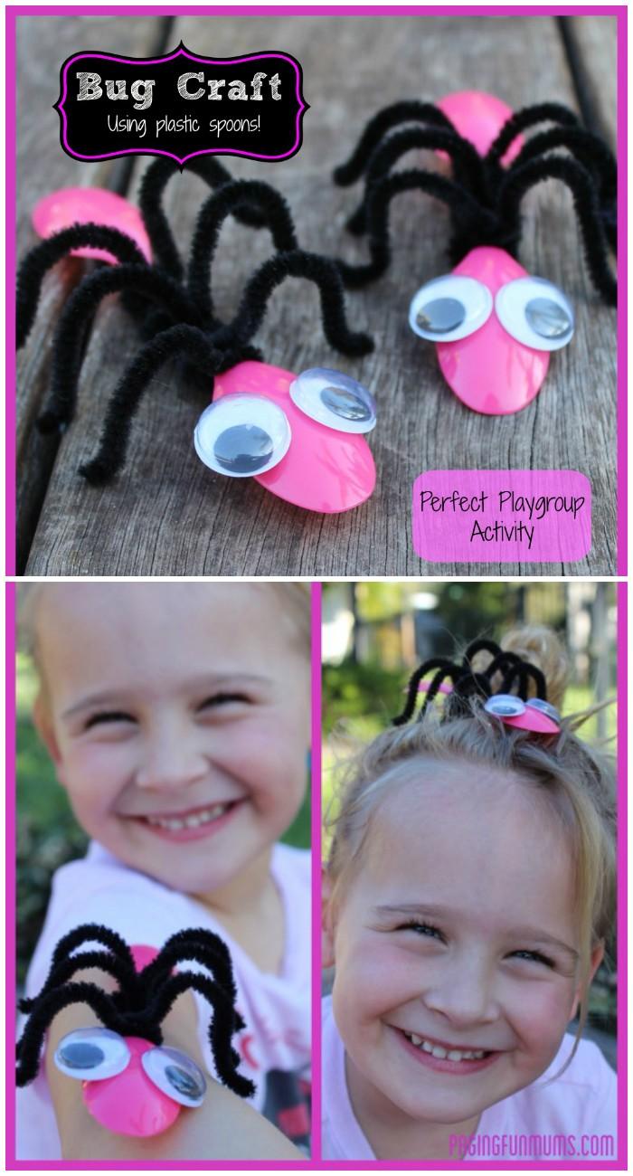 Cute Bug Craft Using Spoons