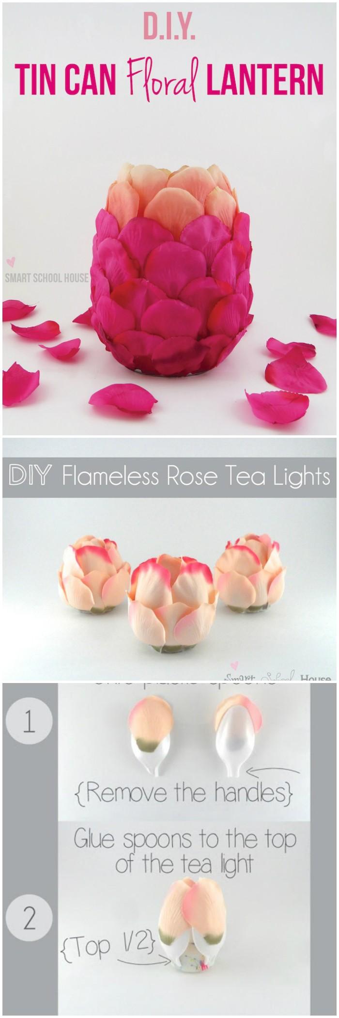 DIY Flameless Rose Tea Lights