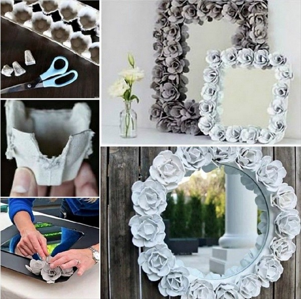15 cool and lovely diy mirror decorating projects you will for Pinterest crafts for home decor