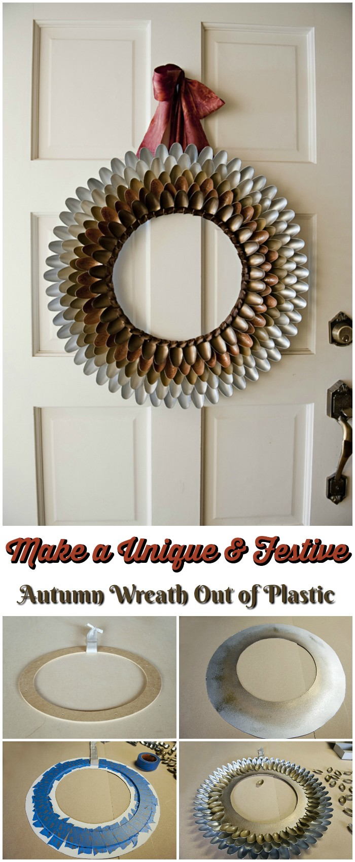 Make a Unique & Festive Autumn Wreath Out of Plastic
